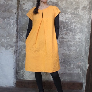 Orange Pippa - térdig érő, egyedileg festett, zsebes ruha, tunika, Ruha & Divat, Női ruha, Ruha, Varrás, Fesztelen szabadság. Orange Pippa ruha\n\nUtolsó darab, kiárusítás!\nAzonnal vihető, készleten lévő, 1 ..., Meska