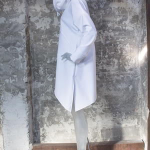 Force Hoodie - Softshell anyagból, vízlepergetős, hosszú ujjú, aszimmetrikus aljú pulcsi, kabát, ruha, Ruha & Divat, Női ruha, Kabát, Varrás, Lezser bőség, aszimmetrikus alj, vagány kapucni.\n\nEgyszerű fazonját részletek széles választéka tesz..., Meska