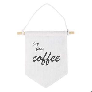 But first coffee /But first tea Zászló, Otthon & lakás, Dekoráció, Kép, Konyhafelszerelés, Bögre, csésze, Lakberendezés, Falikép, Mindenmás, Ha nálad is első a kávé és van egy kis helyed ahol a kávézni szoktál, vagy a kávézáshoz szükséges ke..., Meska