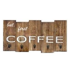 """Fali kávéscsésze tartó \""""But first coffe\"""", Otthon & lakás, Konyhafelszerelés, Bögre, csésze, Lakberendezés, Falikép, Tárolóeszköz, Famegmunkálás, A reggeleket te is kávézással kezded? Akkor igazán jól jön egy szemrevaló és praktikus kávéscsészeta..., Meska"""