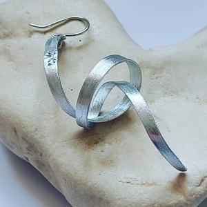 C S O M Ó fülbevaló alumíniumból  - ékszer - fülbevaló - lógó fülbevaló - Meska.hu