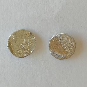 Minimál mini kör fülbevaló alumíniumból - Meska.hu