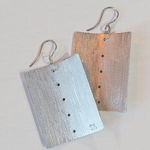Minimál fülbevaló alumíniumból, Ékszer, Fülbevaló, Lógó fülbevaló, Fémmegmunkálás, Ékszerkészítés, Meska