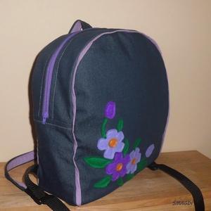 Lila virágos hátizsák (smagdi) - Meska.hu