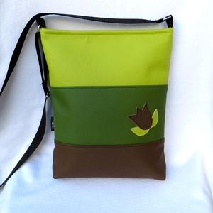 Háromszínű női táska - lime (smagdi) - Meska.hu