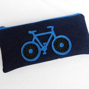 """Biciklis tolltartó / neszesszer, Táska, Táska, Divat & Szépség, Pénztárca, tok, tárca, Pénztárca, Mobiltok, Varrás, Praktikus kis neszesszer, tolltartó, bármitartó.\nKisebb ajándék, meglepetés stílusos \""""csomagolásához..., Meska"""