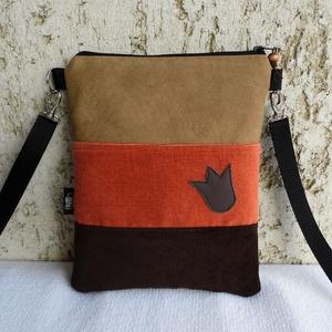 Háromszínű női kistáska, Táska & Tok, Vállon átvethető táska, Kézitáska & válltáska, Varrás, Meska