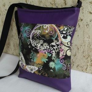 Lepkés női táska / lila, Táska & Tok, Válltáska, Kézitáska & válltáska, Varrás, Meska