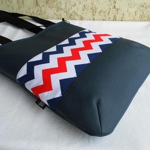 Cikk-cakkos táska matróz színekben  (smagdi) - Meska.hu
