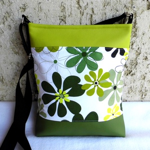 Zöld virágos női táska (smagdi) - Meska.hu