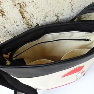 Pipacsos női táska / krém (smagdi) - Meska.hu