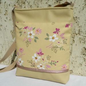 Romantikus női táska / beige, Táska & Tok, Válltáska, Kézitáska & válltáska, Varrás, Meska