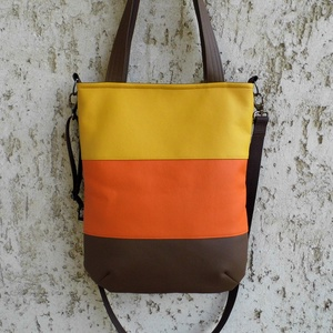 Háromszínű női táska - Meska.hu
