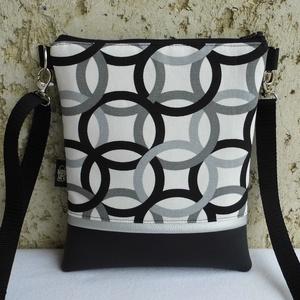 Női táska / fekete, Táska & Tok, Vállon átvethető táska, Kézitáska & válltáska, Varrás, Meska
