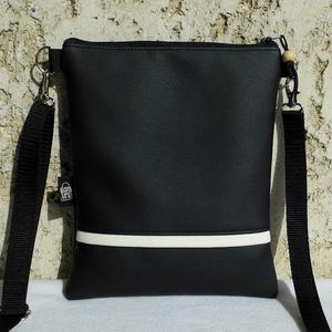Fekete női táska, Táska & Tok, Vállon átvethető táska, Kézitáska & válltáska, Varrás, Meska