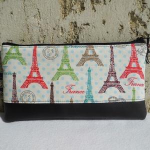 """Párizs - tolltartó / neszesszer, Táska, Divat & Szépség, Táska, Pénztárca, tok, tárca, Pénztárca, Mobiltok, Varrás, Praktikus kis neszesszer, tolltartó, bármitartó.\nKisebb ajándék, meglepetés stílusos \""""csomagolásához..., Meska"""