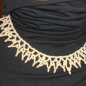 1856-os ihletésű halványsárga gyöngy nyaklánc (Smilylana) - Meska.hu