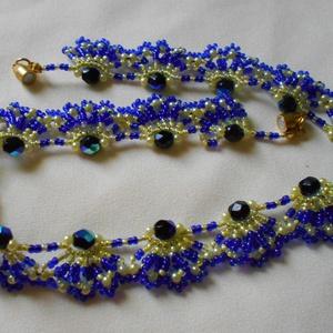 Kék és citromszínű csábítás nyaklánc (Smilylana) - Meska.hu