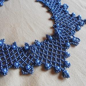 Kék gyöngyös nyaklánc (Smilylana) - Meska.hu