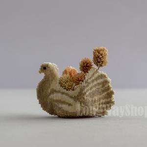Galamb 3D virágkosárka (Smilylana) - Meska.hu