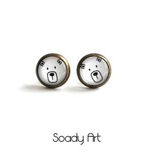 Fekete-fehér, macis fülbevaló (Soadyart) - Meska.hu