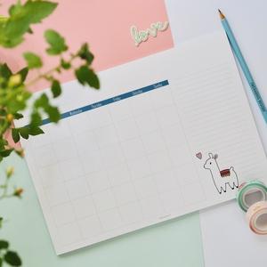 Lámás havi felbontású, asztali  naptártömb, Otthon & Lakás, Papír írószer, Naptár & Tervező, Fotó, grafika, rajz, illusztráció, Saját grafikával készített, dátum nélküli, 50 oldalas egyedi jegyzettömb. A tömb mérete A4es méretű,..., Meska