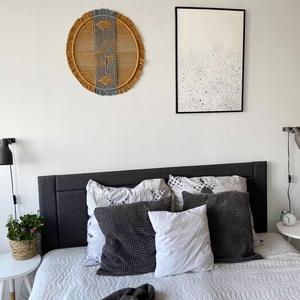 """Falidísz \""""Geometric Circle\"""", Otthon & Lakás, Dekoráció, Álomfogó, Csomózás, Mindenmás, Makramé fonalból kézzel készített egyedi fali dekoráció.\nKülönleges textúrát ad minden helyiséghez é..., Meska"""