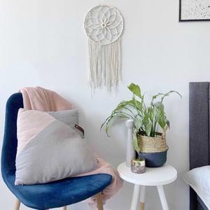 """Makramé falidísz """"Dream Catcher"""", Otthon & Lakás, Dekoráció, Álomfogó, Makramé fonalból kézzel készített egyedi fali dekoráció. Különleges textúrát ad minden helyiséghez é..., Meska"""