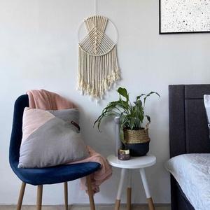 """Makramé falidísz \""""AMA\"""", Otthon & Lakás, Dekoráció, Falra akasztható dekor, Csomózás, Makramé fonalból kézzel készített egyedi fali dekoráció.\nKülönleges textúrát ad minden helyiséghez é..., Meska"""
