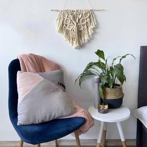 """Makramé falidísz """"Mini Boho"""", Otthon & Lakás, Falra akasztható dekor, Dekoráció, Makramé technikával kézzel készített egyedi fali dekoráció. Különleges textúrát ad minden helyiséghe..., Meska"""
