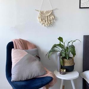 """Makramé falidísz """"EVA"""", Otthon & Lakás, Falra akasztható dekor, Dekoráció, Makramé technikával kézzel készített egyedi fali dekoráció. Különleges textúrát ad minden helyiséghe..., Meska"""