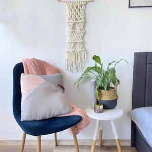 """Makramé falidísz """"ANA"""", Otthon & Lakás, Falra akasztható dekor, Dekoráció, Makramé technikával kézzel készített egyedi fali dekoráció. Különleges textúrát ad minden helyiséghe..., Meska"""