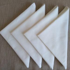 Törtfehér pamut szalvéta, Otthon & Lakás, Konyhafelszerelés, Szalvéta, 100% pamutból készültek ezek a finom, puha  törtfehér szalvéták. Használatukkal hozzájárulhatsz körn..., Meska