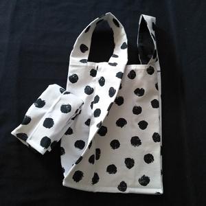 Fekete pacnis bevásárló táska - táska & tok - bevásárlás & shopper táska - shopper, textiltáska, szatyor - Meska.hu