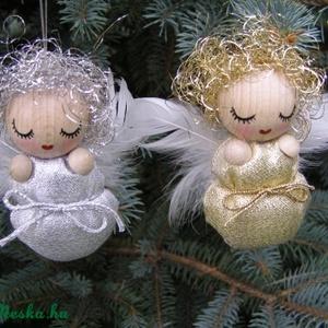 ANGYALKA bébik arany és ezüst színű pólyácskában...RENDELHETŐ!!!, Karácsonyfadísz, Karácsony & Mikulás, Otthon & Lakás, Baba-és bábkészítés, Picuri angyalkáim is nagyon várják már az év legszebb ünnepét.\nDíszíthetik majd karácsonyfádat, öröm..., Meska