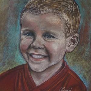 Pasztell portré megrendelésre, Képzőművészet, Otthon & lakás, Festmény, Pasztell, Festészet, A legszebb egyedi ajándék szülinapra, évfordulóra, nászajándékba, vagy csak úgy...\n\nSzínes pasztell ..., Meska