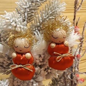 Aranyhajú ANGYALKA BÉBIK fényes, ünnepi pólyácskában, Otthon & Lakás, Karácsony & Mikulás, Karácsonyfadísz, Baba-és bábkészítés, Picuri angyalkáim is nagyon várják már az év legszebb ünnepét.\nDíszíthetik karácsonyfádat, örömet sz..., Meska