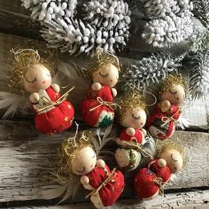 ANGYALKA BÉBIK karácsonyi mintás pólyácskában (utolsó darabok SZUPER ÁRON!), Karácsony & Mikulás, Karácsonyfadísz, Baba-és bábkészítés, Picuri angyalkáim is nagyon várják már az év legszebb ünnepét.\nDíszíthetik karácsonyfádat, örömet sz..., Meska