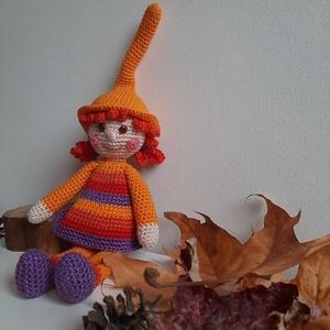 Narancsvirág Manólány, Játék & Gyerek, Babalátogató ajándékcsomag, Horgolás, Ezt a kis manólányt ilyen színekben készítettem, hogy napfényt és örömet hozzon a lakásba a kis igaz..., Meska