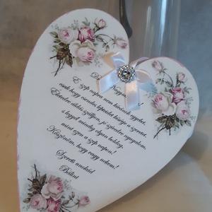 Ajándék sziv, Esküvő, Nászajándék, Emlék & Ajándék, Akándékot keresel névnapra, esküvőre, születésnapra, anyáknapjára vagy más alkalomra akkor válaszd e..., Meska
