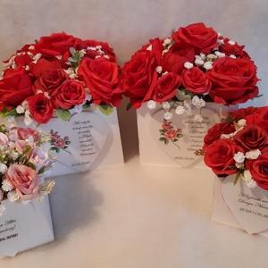 Piros rózsák tengerén, Esküvő, Köszönőajándék, Emlék & Ajándék, Szeretnél névnapra, keresztelőre, házavatóra, ballagásra, vagy eskűvőre édesanyának, nagymamának, éd..., Meska