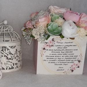 Rózsaszín mámor, Esküvő, Dekoráció, Virágkötés, Szeretnél névnapra, keresztelőre, házavatóra, ballagásra, vagy eskűvőre édesanyának, nagymamának egy..., Meska