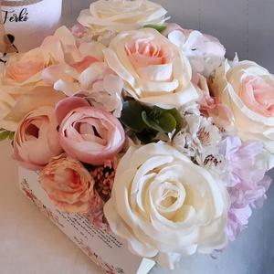 Pasztel színben tündökölve, Köszönőajándék, Emlék & Ajándék, Esküvő, Virágkötés, Szeretnél névnapra, keresztelőre, házavatóra, ballagásra, vagy eskűvőre édesanyának, nagymamának, éd..., Meska