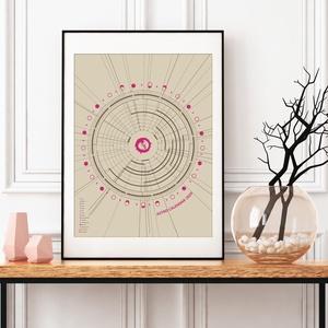 Asztro Kalendárium 2020 - Poszter / AC012, Otthon & lakás, Naptár, képeslap, album, Naptár, Lakberendezés, Falikép, Asztrológiai naptár 2020. – Színkód: AC012  A hagyományos naptárfunkciója mellett, amelyet már jól i..., Meska