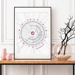 Asztro Kalendárium 2020 - Poszter / AC013, Otthon & lakás, Naptár, képeslap, album, Naptár, Lakberendezés, Falikép, Asztrológiai naptár 2020. – Színkód: AC013  A hagyományos naptárfunkciója mellett, amelyet már jól i..., Meska