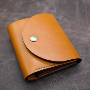 Amarillo pénztárca , Táska, Divat & Szépség, Táska, Pénztárca, tok, tárca, Pénztárca, Bőrművesség, Közepes méretű pénztárca. 4 kártyazsebbel, patentos aprótartóval. Növényi cserzésű bőrből készült, k..., Meska