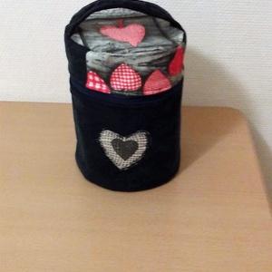 Pipere táska, Neszesszer, Táska & Tok, Varrás, Farmerből és pamutvászonból készült ez a kedves kis táska minden bele fér amire egy hölgynek szükség..., Meska