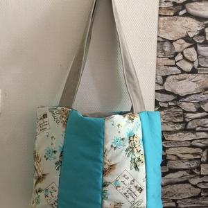 Venezia, Táska & Tok, Kézitáska & válltáska, Nagy pakolós táska, Varrás, Kellemes színekből varrtam ezt a üde pakolós táskát . méretei magasság 30 cm szélesség 40 cm ovális ..., Meska