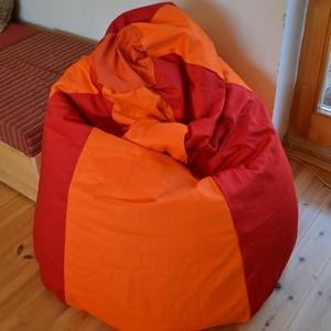 Babzsákfotel, Gyerek & játék, Bútor, Otthon & lakás, Lakberendezés, Babzsák, Varrás, Babzsákfotel:\n\nErős piros és narancssárga vászonból készült.\nÜlésre, fekvésre (eldöntve) egyaránt al..., Meska