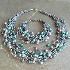 AKCIÓ: L1941 Silver Teal nyaklánc  (SoniasCreations) - Meska.hu